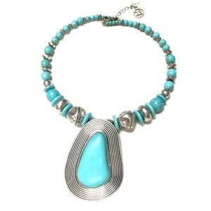 Choker Necklace Turquoise Look